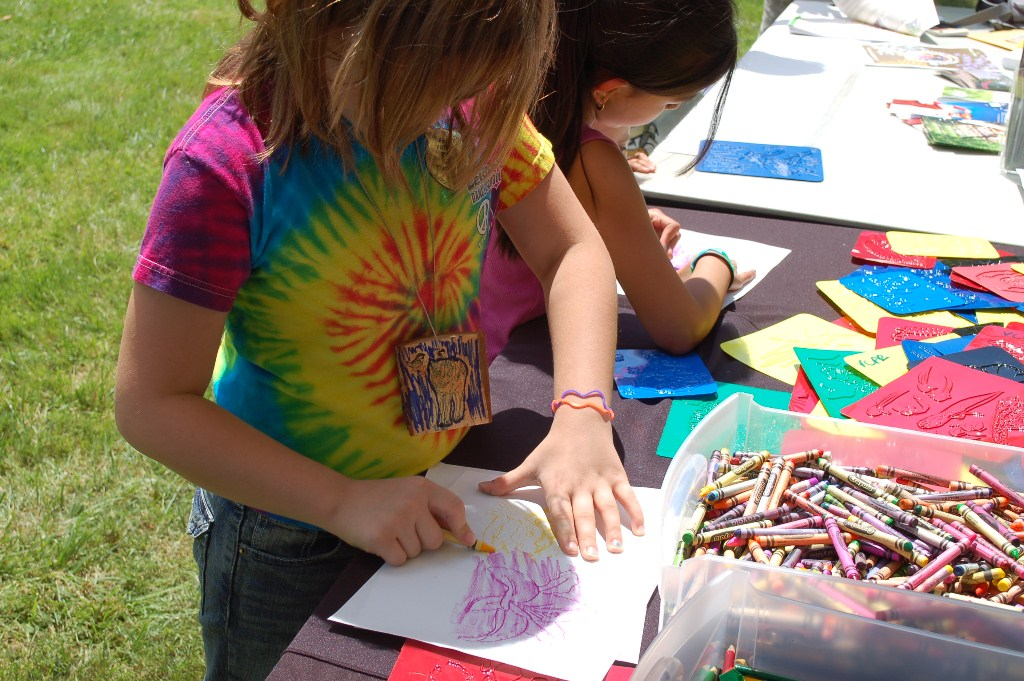 Coloring at National Get Outdoors Day