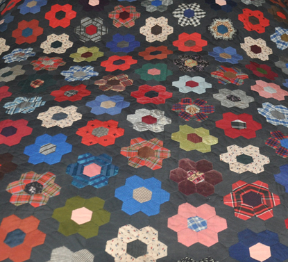 1860s Hexagon Mosaic Quilt