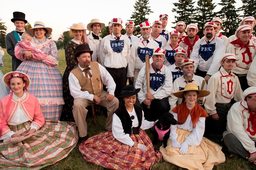 Players and spectators at Vintage Base Ball