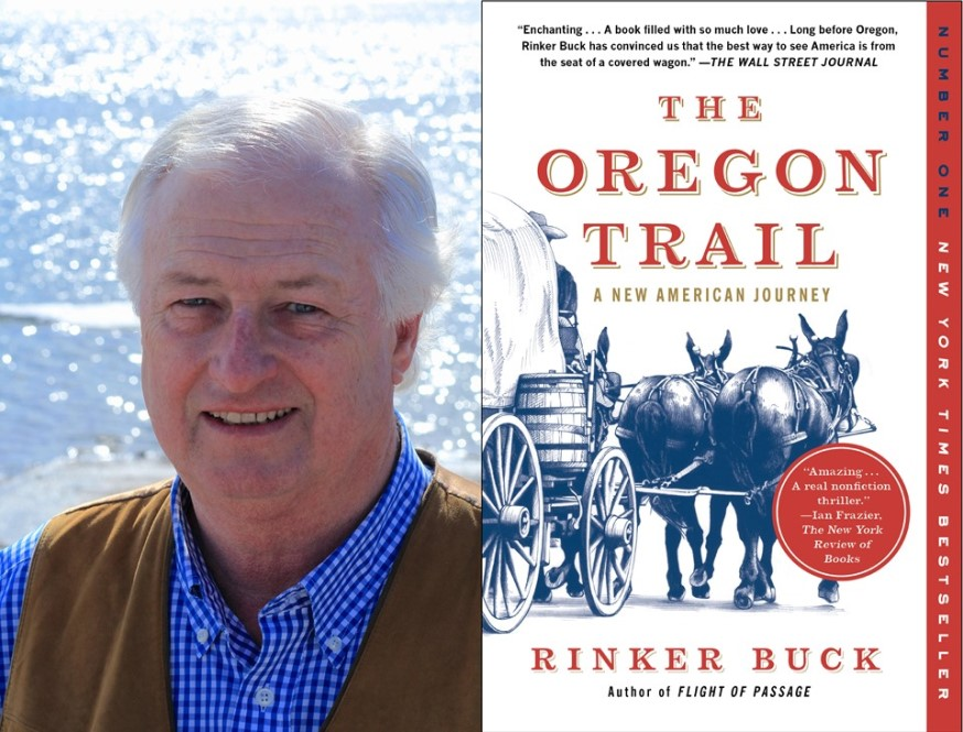 Portrait of author Rinker Buck and book cover