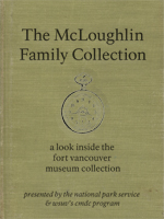 Image of the cover of the eBook titled The McLoughlin Family Collection: A Look Inside the Fort Vancouver Museum Collection, with artwork showing the outline of a pocketwatch on a faux linen background.