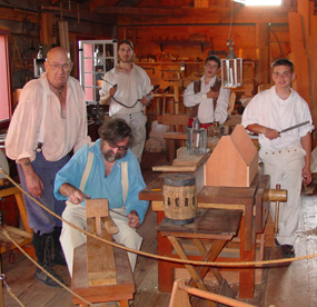 Volunteers in the Carpenter Shop