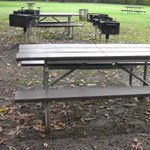 Picnic tables and grill