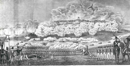 The British defeated the American forces at the Battle of Bladensburg on August 24,1814.