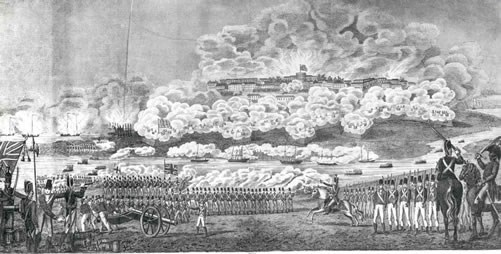 Drawing of the Battle of Bladensburg