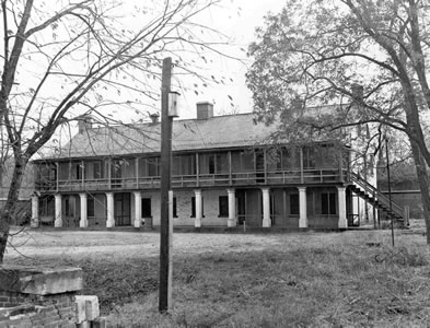Barracks used as hospital in 1828 (Signal Corps photo)