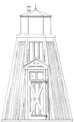Drawing of 1870 Fort Washington Lighthouse