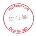 Fort Foote Park Passport Stamp