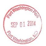 Fort Washington's Passport Stamp