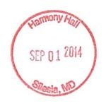 Harmony Hall Passport Stamp