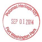 Potomac Heritage National Scenic Trail Passport Stamp-Fort Washington Park