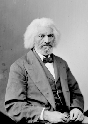 A photograph of Frederick Douglass as an older man