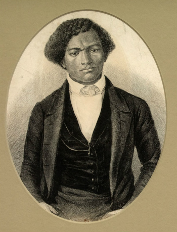 A drawing of Frederick Douglass as a young man