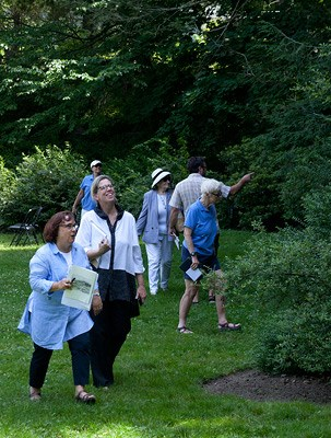 Good Neighbors Institute participants explore the landscape at Fairsted