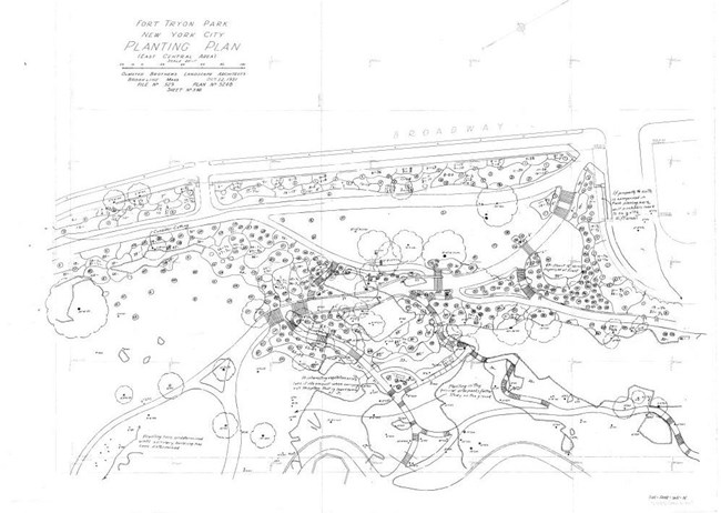 Planting Plan for Fort Tryon Park