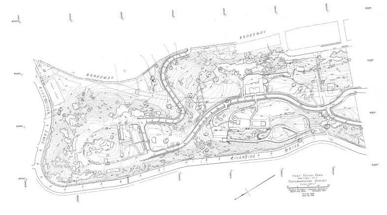 Topographical Survey of Fort Tryon Park