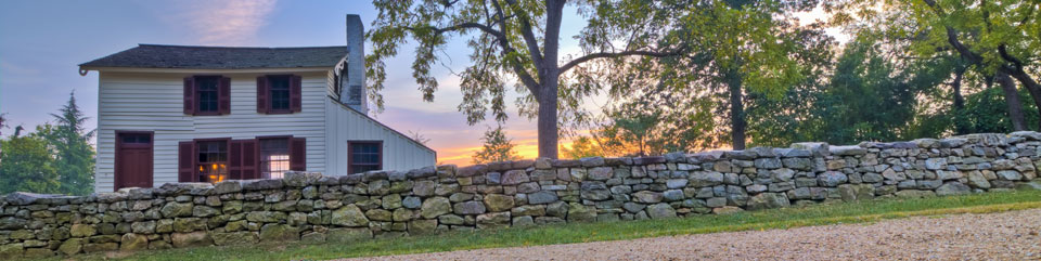 Fredericksburg Battlefield: Sunken Road, Stone Wall and Innis House sunrise