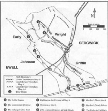 Map of Gordon Flank Attack Trail
