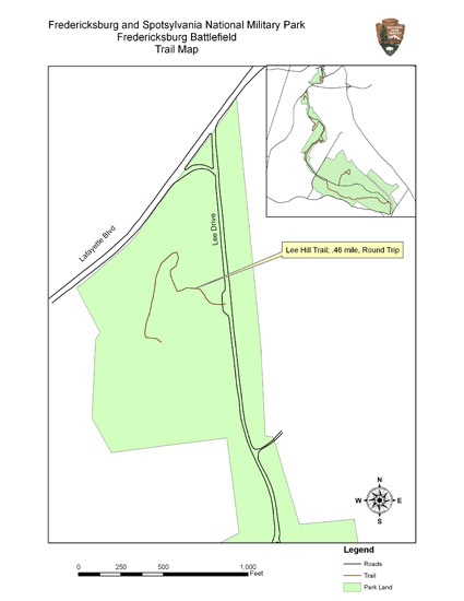 Map of Lee Hill trail