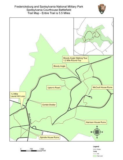 Map of Spotsylvania Trail System