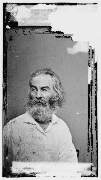 Walt Whitman taken by Mathew Brady. (Library of Congress)