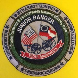 Junior ranger patch with rockers from all four battlefields
