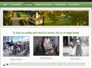 Community at War Virtual Classroom home page
