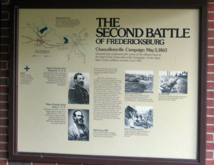 Battle of 2nd Fredericksburg Exhibit