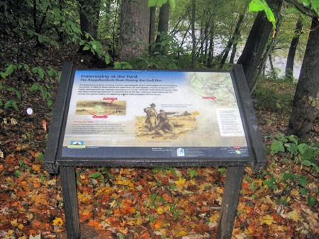 Interpretive sign at Banks Ford