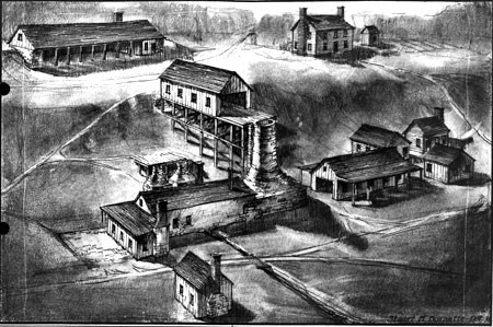 Artist depiction of Catharine Furnace