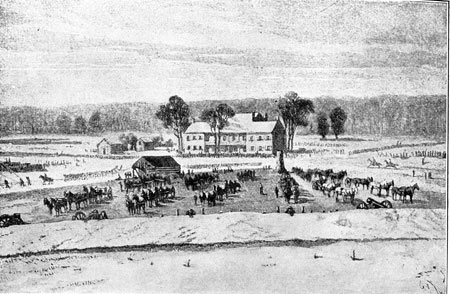 Artist sketch of Chancellorsville
