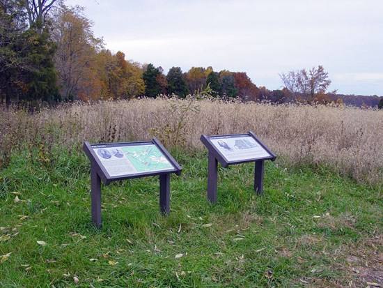 Interpretive signs on the Chewning Farm