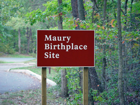 Maury Birthplace Tour Stop
