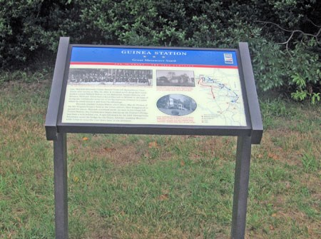 Grant vs. Lee interpretive sign