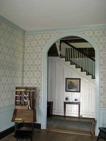 Ellwood entrance hallway after restoration