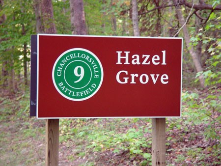 Tour Stop Sign for Hazel Grove