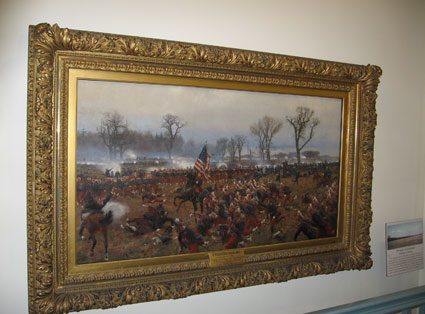 Carl Rochling painting of Battle of Fredericksburg