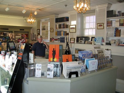Interior of Fredericksburg Battlefield Bookstore