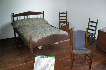 Upstairs bedroom at Jackson Shrine
