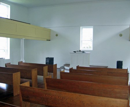 Interior of Salem Church