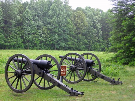 Cannon at Spotsylvania Battlefield