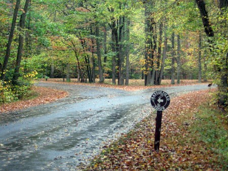 Intersection near Catharine Furnace