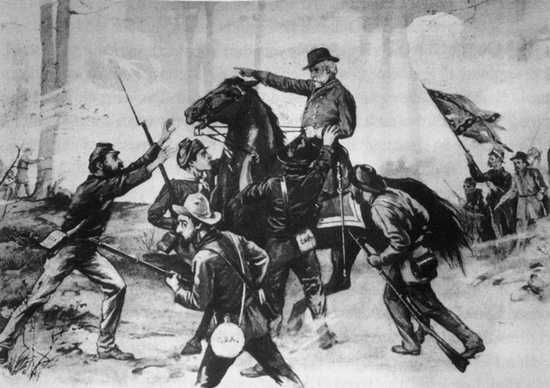 Sketch of Lee-to-the-rear incident