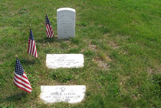 Memorial headstones in Spotsylvania Confederate Cemetery