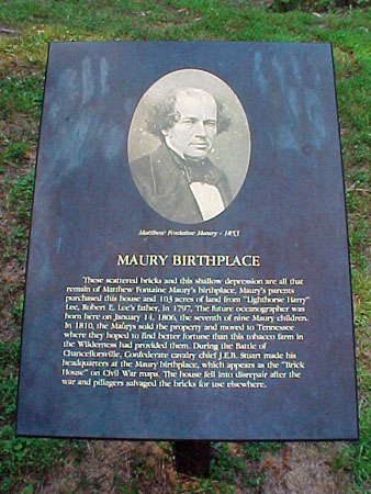 Exhibit about Matthew Fontaine Maury