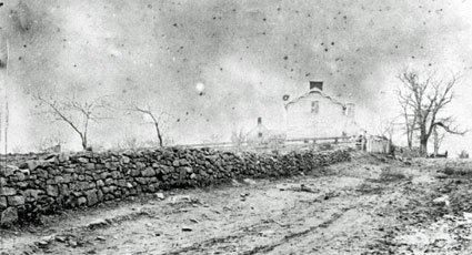 19th century view of Sunken Road/Stone Wall