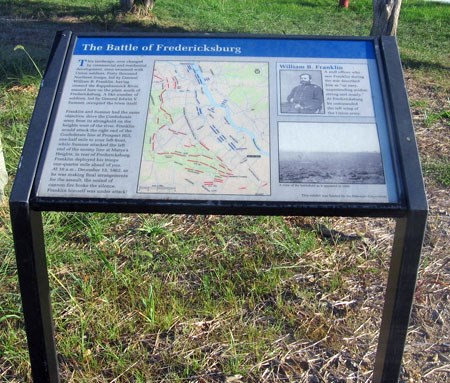 Interpretive Sign for the south end of the Battle of Fredericksburg