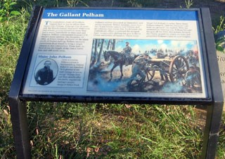 "Interpretive Sign for ""The Gallant Pelham"""
