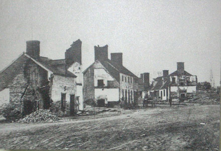 Historic photo of intersection of Hanover & George Streets
