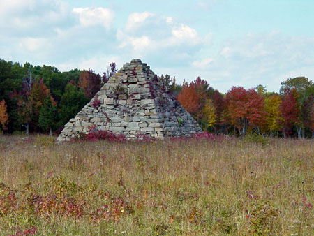 Pyramid Monument on the Fredericksburg Battlefield